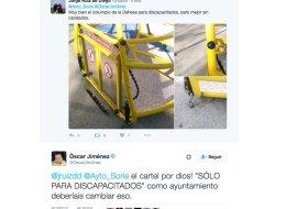 Aplausos al Ayuntamiento de Soria por lo que hizo tras ver este tuit