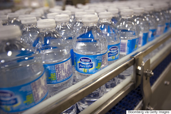 nestle water bottles