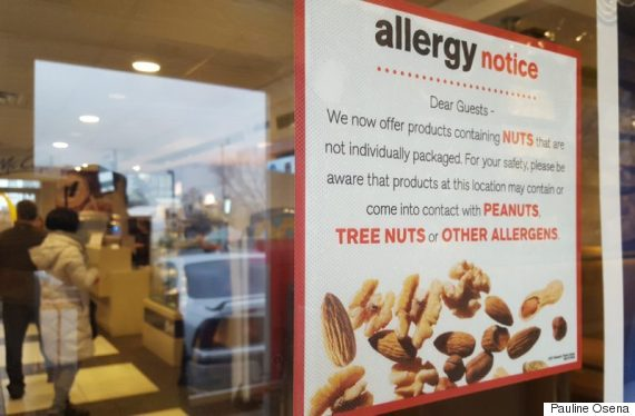 mcdonalds allergy notice