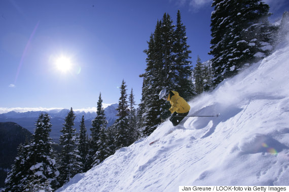 banff skiing
