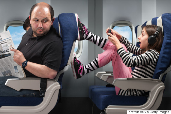 airplane seat kick