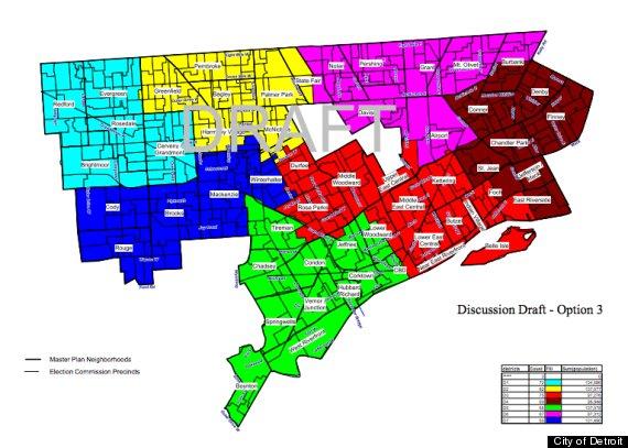 Detroit City Council Districts Chosen Council Votes For