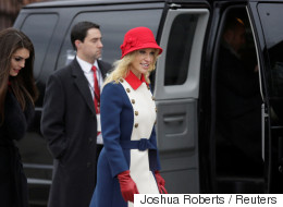 Trump Advisor Wears Her Patriotism On Her Sleeve And Hat And Coat
