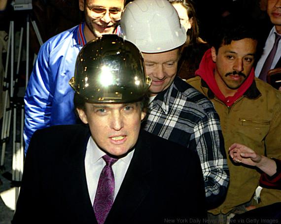 trump golden helmet