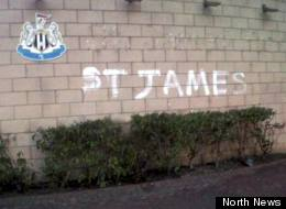 Geordie Scores Two Own Goals With Graffiti