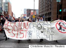 Une manif anti-Trump dégénère à Montréal