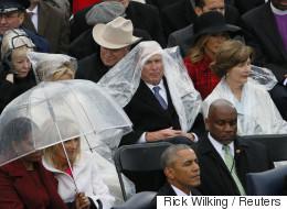 미국 대통령 취임식에서 깜찍한 싸움이 벌어졌다