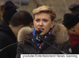 스칼렛 요한슨이 '여성 행진'에서 트럼프를 향해 강력하고 진심 어린 발언을 하다(영상)