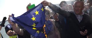 Europe Burning Flag