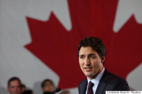 justin trudeau canadian flag