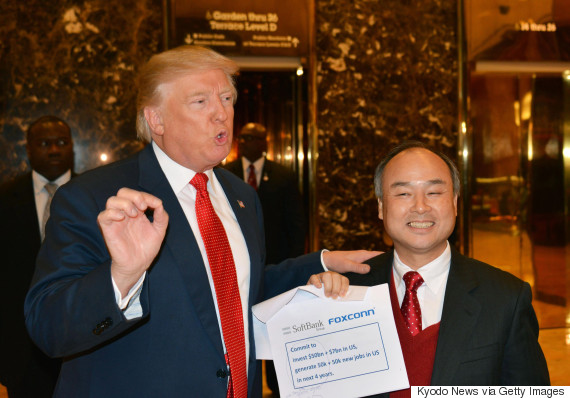 softbank masayoshi son donald trump