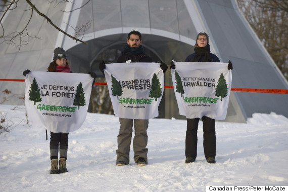 greenpeace protest montreal quebec
