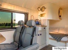 Ils transforment une vieille camionnette en luxueuse maison mobile