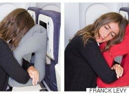 비행기에서 쓸 수 있는 최적의 베개가 나왔다(사진, 영상)