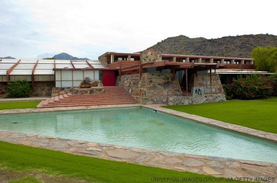 construida en en arizona estados unidos esta casa fue ideada por uno de los pioneros del diseo sostenible frank lloyd wright cuyas innovadoras