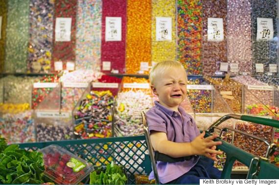 child tantrum candy