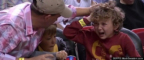 Lebron James Makes Kid Cry
