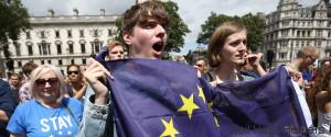 EU FLAG PROTESTER