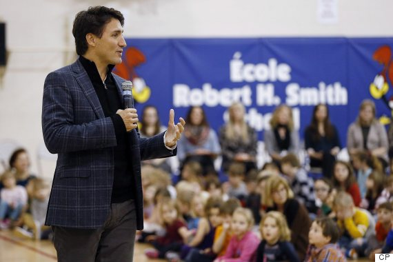 trudeau winnipeg students school