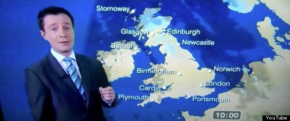 Whoops A Bbc Weatherman Appeared To Drop The Cbomb