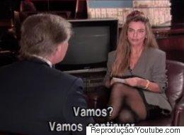 O dia em que Trump disse que 'não queria ser presidente' e assediou Bruna Lombardi