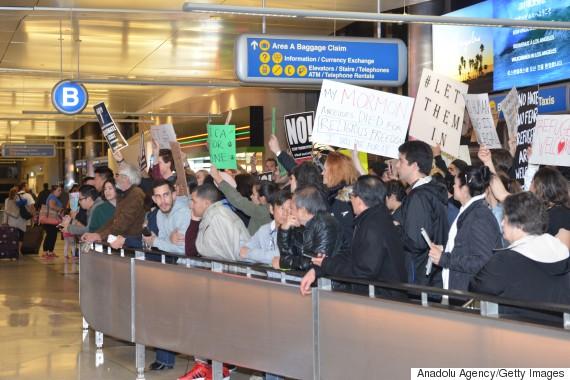 airport protests trump ban