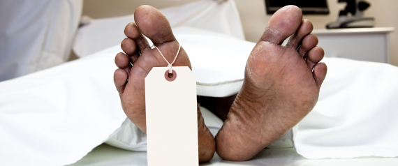 DEAD HUMAN FEET