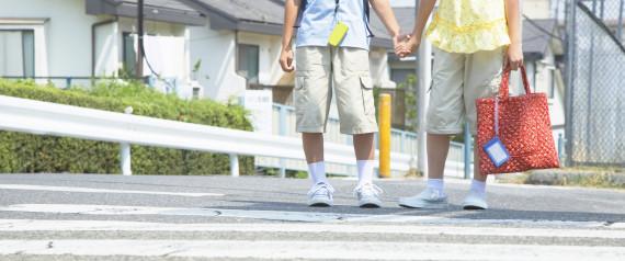 CHILD JAPAN CROSSING