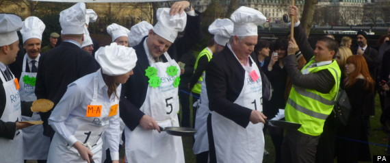 Pancake Day Race Parliament