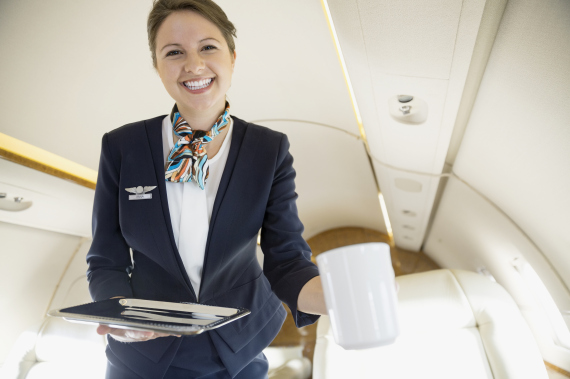 flight attendant smile
