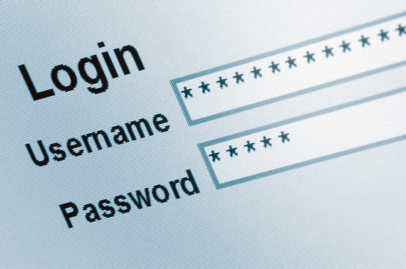 internet username password