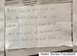 Alberta Muslim Shocked To Find Islamophobic Note Left On His Car