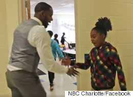 Coolest Teacher Ever Creates Unique Handshake With Every Student