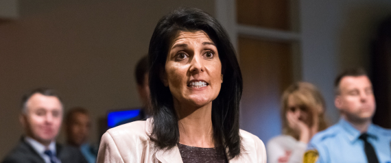 US AMBASSADOR TO THE UNITED NATIONS NIKKI HALEY