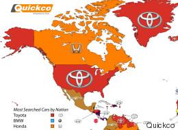 Qui sont les constructeurs automobiles les plus recherchés dans Google?