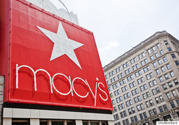 A Macy's banner hanging at the store's flagship location in Manhattan