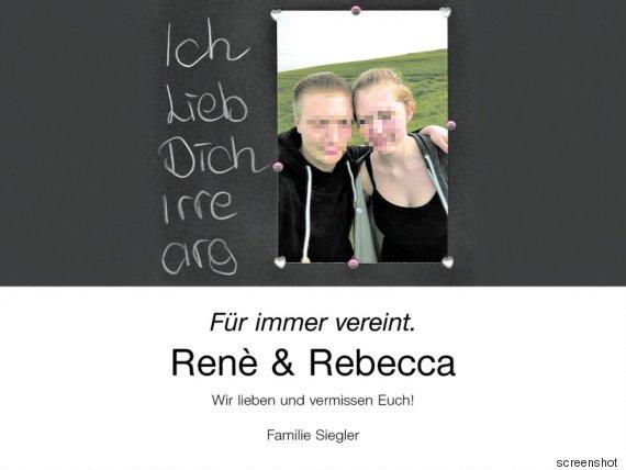 Bewegende Traueranzeige nach Tod von sechs Jugendlichen in Arnstein