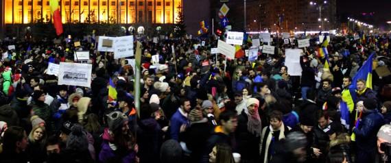 ROMANIA PROTESTS