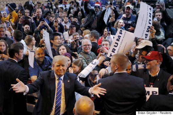donald trump campaign rally cameras