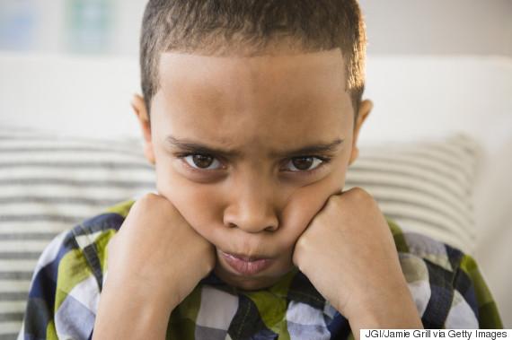 irritated child