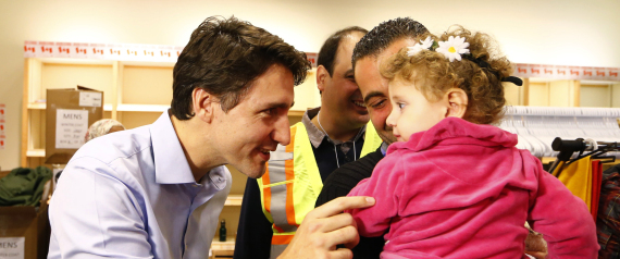 JUSTIN TRUDEAU RECEIVES REFUGEES