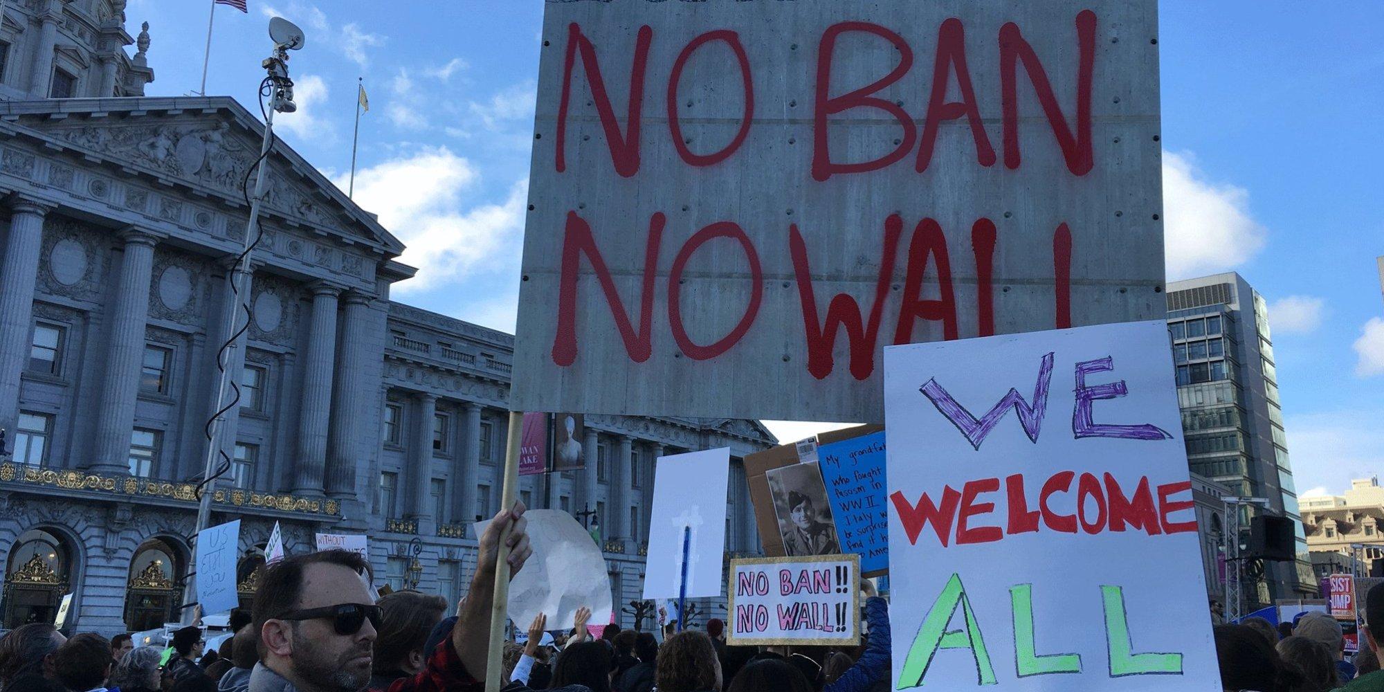 L'Adan retentit à San Francisco pour dénoncer le «MuslimBan» de Trump