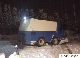 B.C. Driver Pulled Over For Trying To Clear Snow In Zamboni