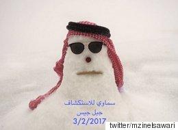 아랍에미리트에 눈이 내렸다