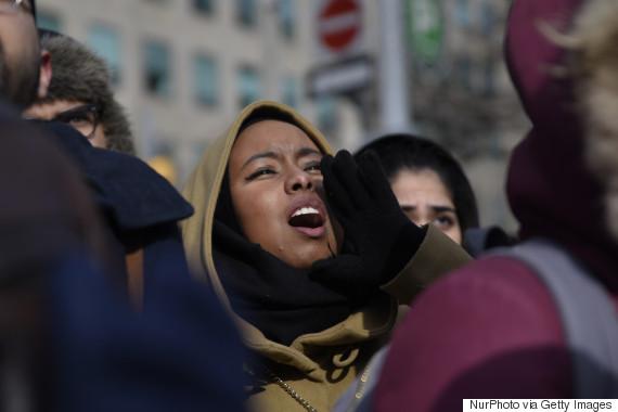 protest muslim ban canada