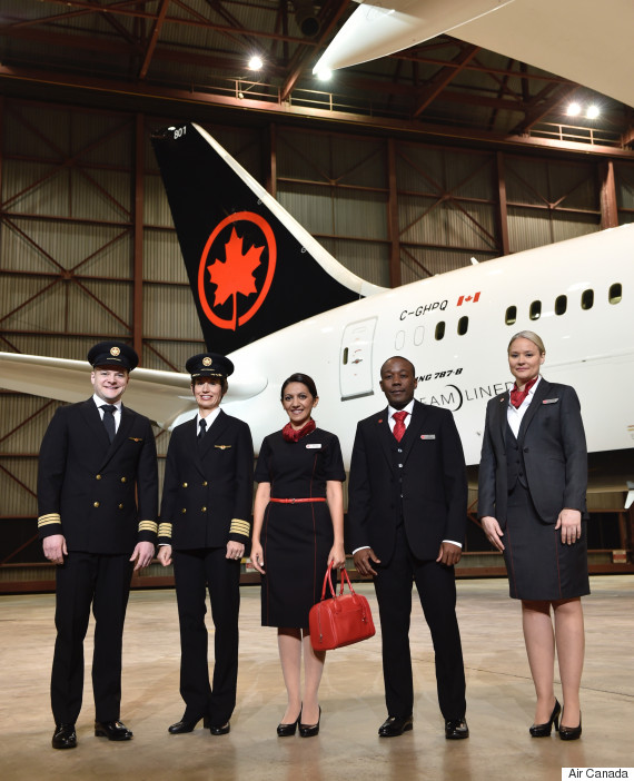 air canada uniforms