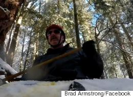 ► Winter Kayaker Speeds Down A Hiking Trail In Victoria