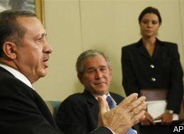 Turkish Pm Erdogan Meets With Bush