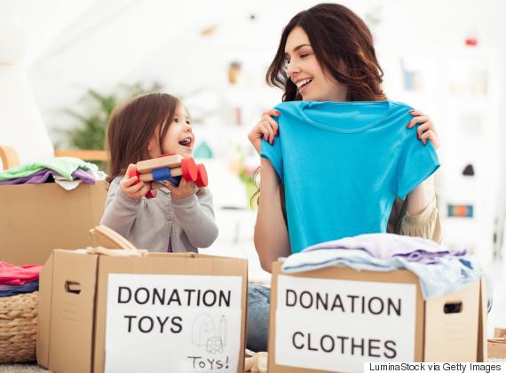 kids donating
