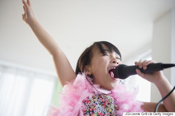 kids singing at home